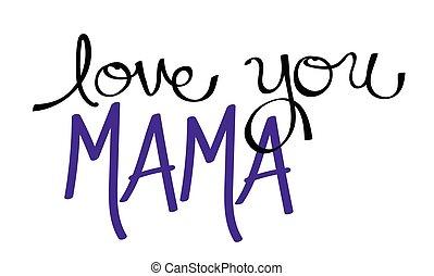 Love You Mama Purple