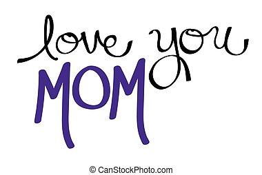 Love You Mom Purple