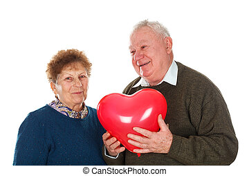 Love you, my dear - Picture of an elderly couple celebrating...