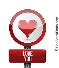 love you sign illustration design