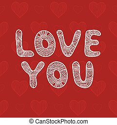 Love you - Inscription Love You. Vector funny letters