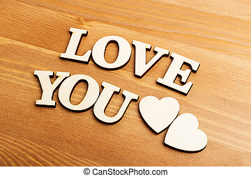 Love You wooden letters