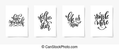 love yourself, selfie star, life is now and smile - set of...