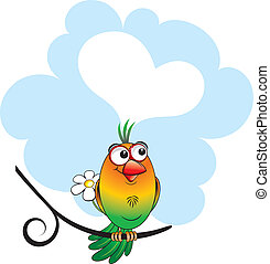 Lovebird - Dreaming lovebird with speech
