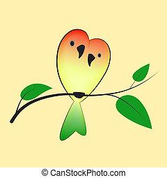 lovebirds, drzewo