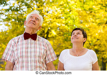 Loved senior couple