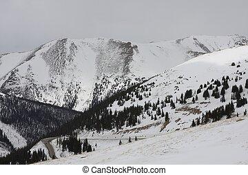 Loveland Pass Colorado Winter