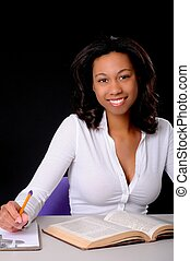 Lovely African American College Student