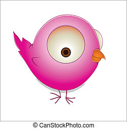 Cute Cartoon Bird - Lovely Art Design of Cute Cartoon Bird...