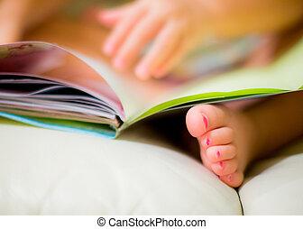 Lovely baby girl litte feet
