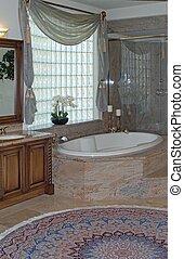 lovely bath - bathroom with bath tub and shower made of ...