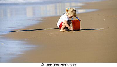 Lovely beach girl