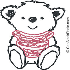 lovely bear illustration