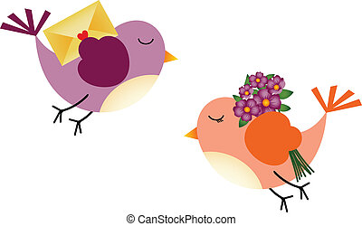 Lovely Birds with Flowers