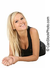 Lovely Blond Beauty Woman