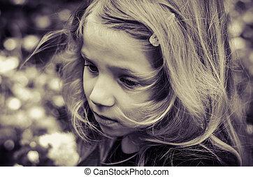 lovely blond girl portrait