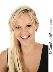 Lovely Blonde Woman - Gorgeous laughing blonde woman in ...