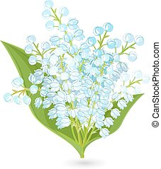 lovely bouquet of small spring flowers. Lilies Of The Valley