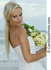 Lovely Bride at the Beach