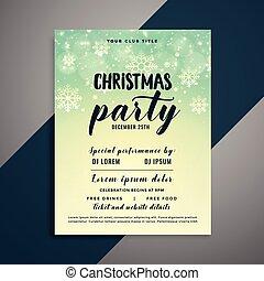 lovely christmas snowflakes flyer design