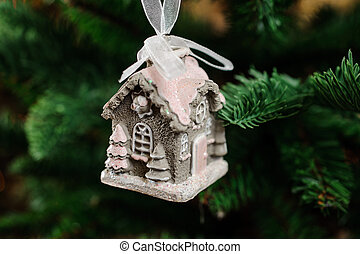 Lovely Christmas tree toy in the form of cute little house