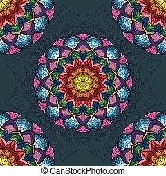 Lovely colorful mandala seamless patterns
