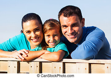 lovely family close up