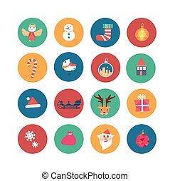 lovely flat Christmas ornaments set