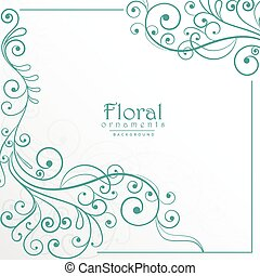 lovely floral background design
