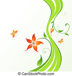 Lovely flower - Abstract Floral Background. Abstract...