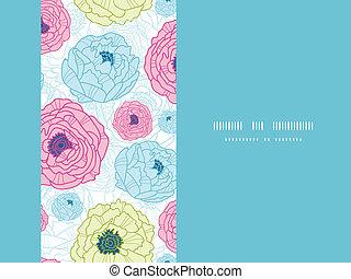Lovely flowers horizontal seamless pattern background