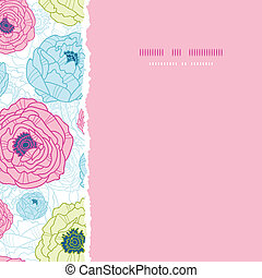 Lovely flowers square torn seamless pattern background