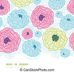 Lovely flowers vertical seamless pattern background