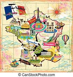 France travel map