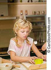 lovely girl in kitchen