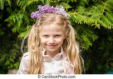 lovely girl with lilac headband