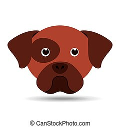 lovely head puppy dog boxer vector illustration eps 10