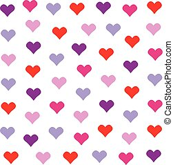 Lovely heart background in pretty colors. Valentine's Day vector design