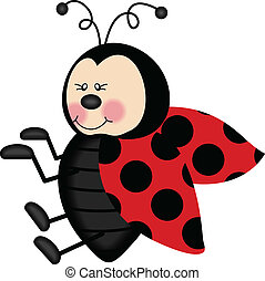 Lovely Ladybug - Scalable vectorial image representing a...