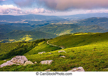 lovely landscape on Runa mountain. summer scenery on a...