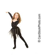 Lovely little girl dancing