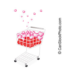 Lovely Little Hearts in A Shopping Cart