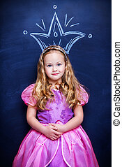 princess girl - Lovely little princess girl with beautiful ...