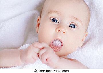 lovely newborn baby