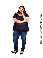 lovely overweight teen girl