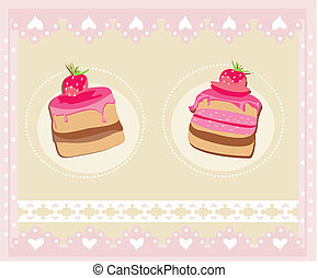 Lovely Pattern With cake Design
