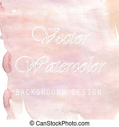Lovely pink watercolor background design for commercial....