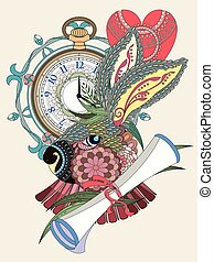 lovely rabbit coloring page