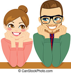 Lovely Romantic Couple - Lovely young couple looking each...