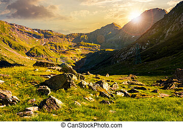 lovely scenery of Transfagarasan valley at sunset - lovely...